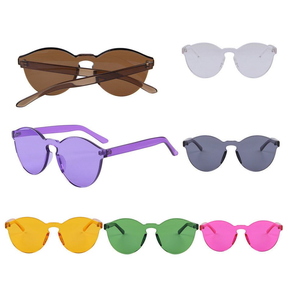8de0fa8c7e The New Korean Outdoor Plastic Sunglasses Retro Glasses Without Frame UV400  BS