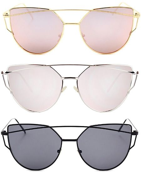 0c6cab317dd9 SojoS Cat Eye Mirrored Sunglasses