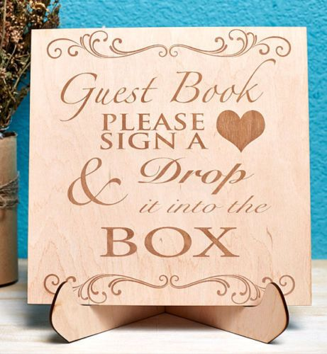 Aliexpresscom Buy Unique Wedding Guest Book Frame Guestbook Sign