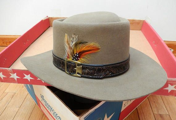 vintage Stetson hat Revenger 4X Beaver color Acorn Size 0ec54caf438
