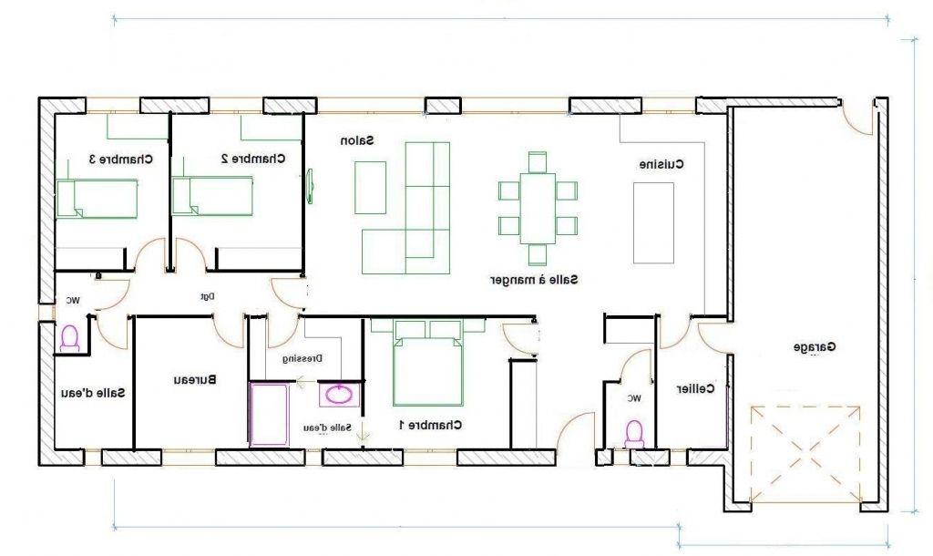 Résultat de recherche d\u0027images pour \ - plans de maison gratuit plain pied