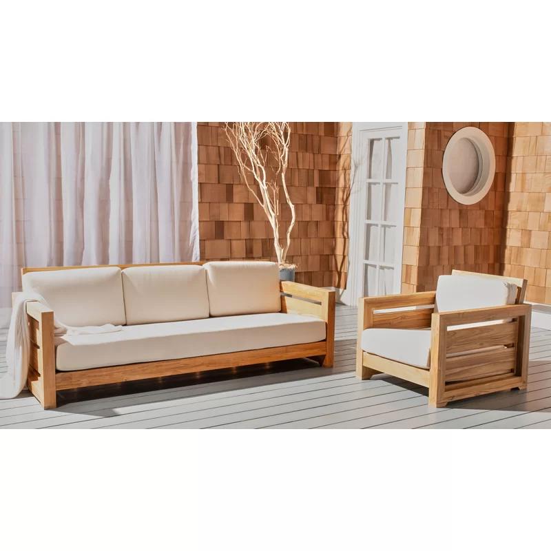 Highland Dunes Drumheller Outdoor 3 Seat Sofa Wayfair In 2020 Patio Sofa Teak Patio Furniture Furniture #patio #furniture #living #room