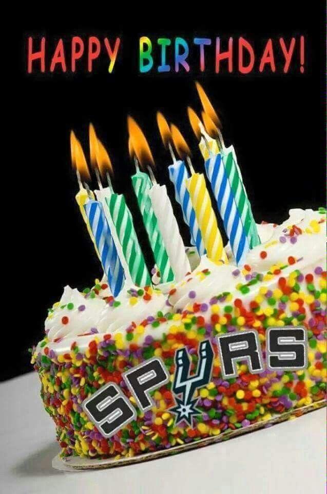 Happy Birthday Spurs Fan Happy Birthday Cakes Image Birthday Cake Birthday Cake With Candles