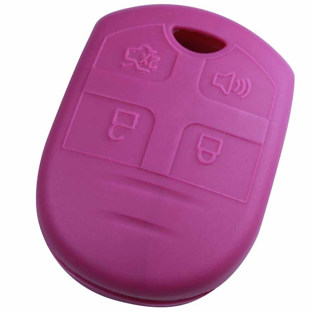 KeyGuardz Pink Rubber Keyless Entry Remote Key Fob Skin Cover Protector