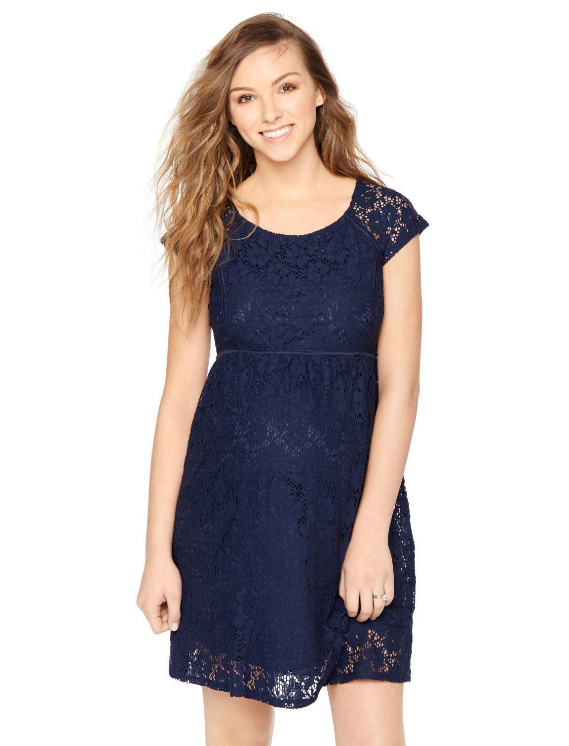 55c6615069bf4 Motherhood Maternity Short Sleeve Lace Maternity Dress | Spring + ...