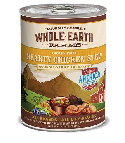 Whole Earth Farms Chicken Stew Can Dog Food 12 12 7 Oz Dog Food