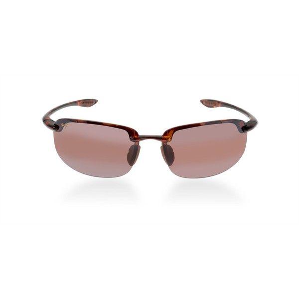 Maui Jim Maui Jim Sunglasses (11,665 INR) ❤ liked on Polyvore featuring men's fashion, men's accessories, men's eyewear, men's sunglasses, men's rectangular sunglasses, men's oval sunglasses, mens rectangle sunglasses, mens rimless sunglasses and mens wrap around sunglasses