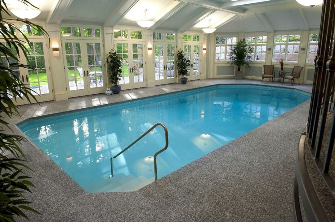 25 Stunning Indoor Swimming Pool Design For Luxury Home Decoration Freshouz Com Indoor Outdoor Pool Small Indoor Pool Indoor Pool Design