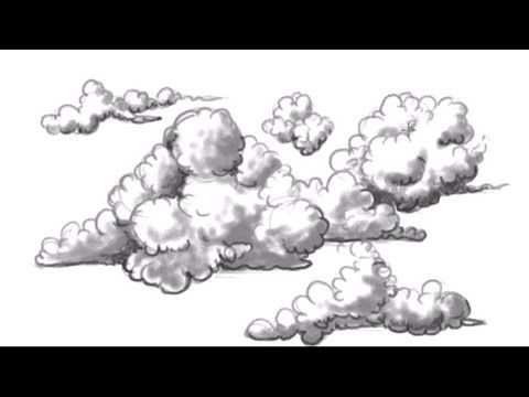 How To Draw Clouds Easy Clouds To Draw Cloud Drawing Flower