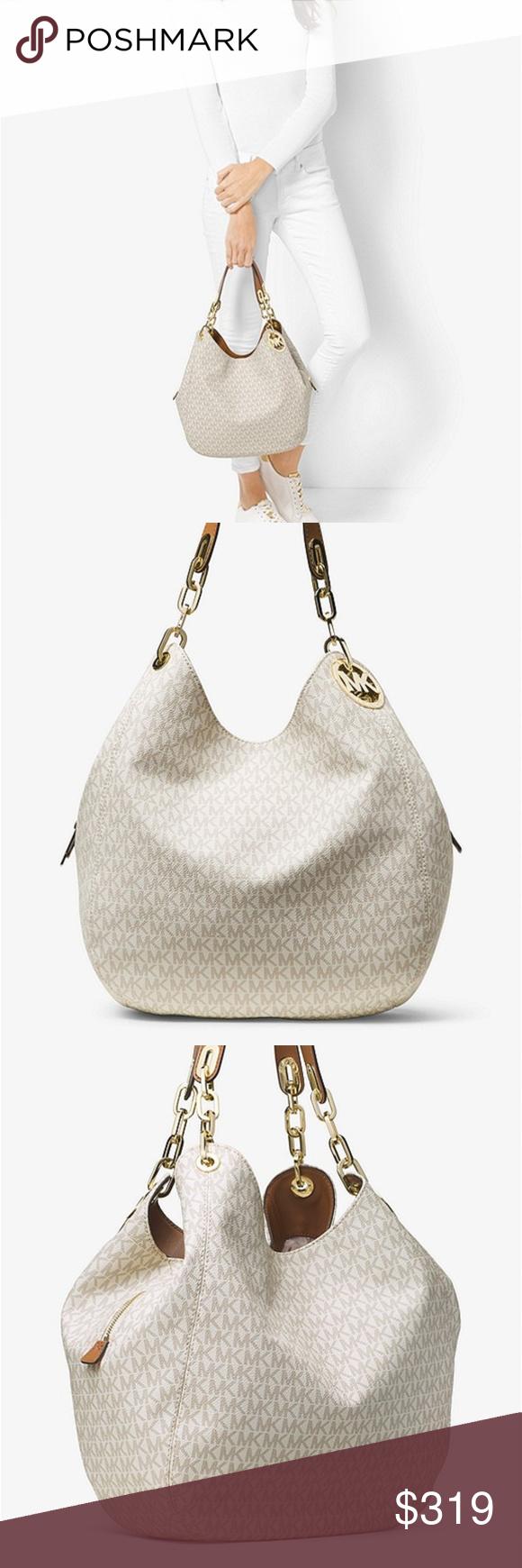 30a1c3f55ec63a Michael Kors Fulton Large Signature Shoulder Bag This handbag comes from Michael  Kors. This bag