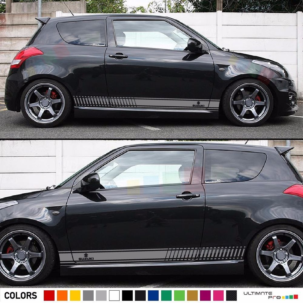 Sticker Decal Graphic Body Kit Stripes For Suzuki Swift Sport Lip - Car body graphics for altomaruti dzire exteriorsinteriors genuine accessories