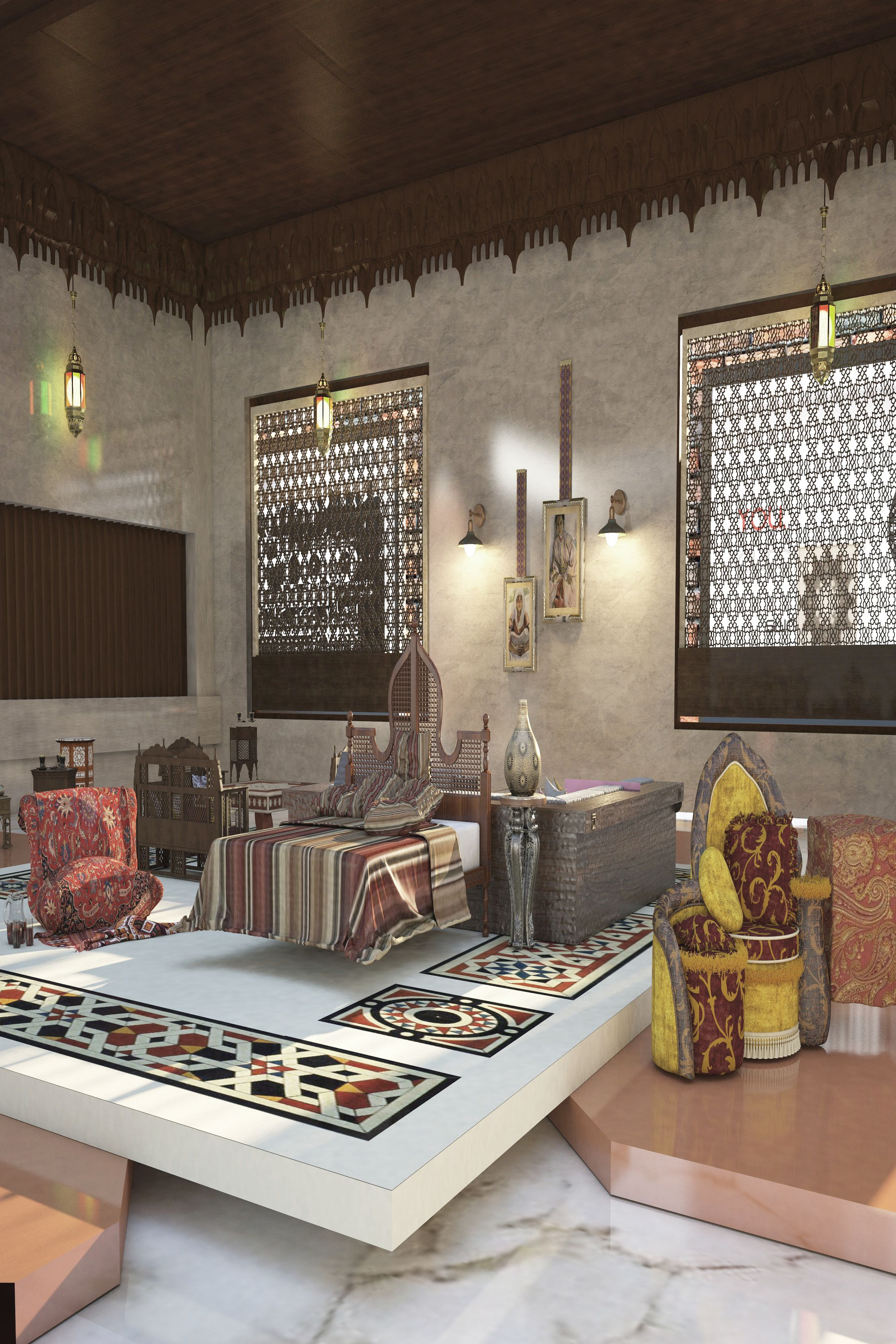 Islamic Furniture Exhibition Interior Design With Images