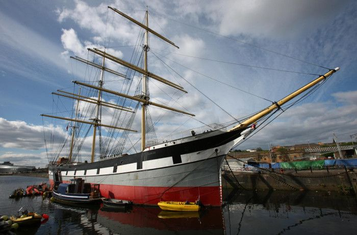 "Three-masted barque ""Glenlee"", Riverside museum, Glasgow 