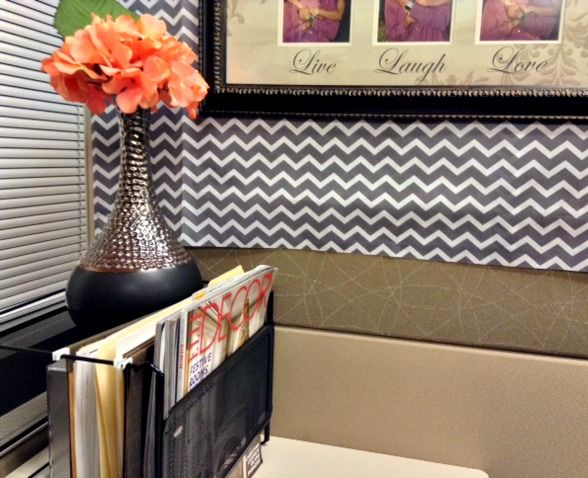 Affordable style solutions for your office looking fly Cubicle desk decorating ideas