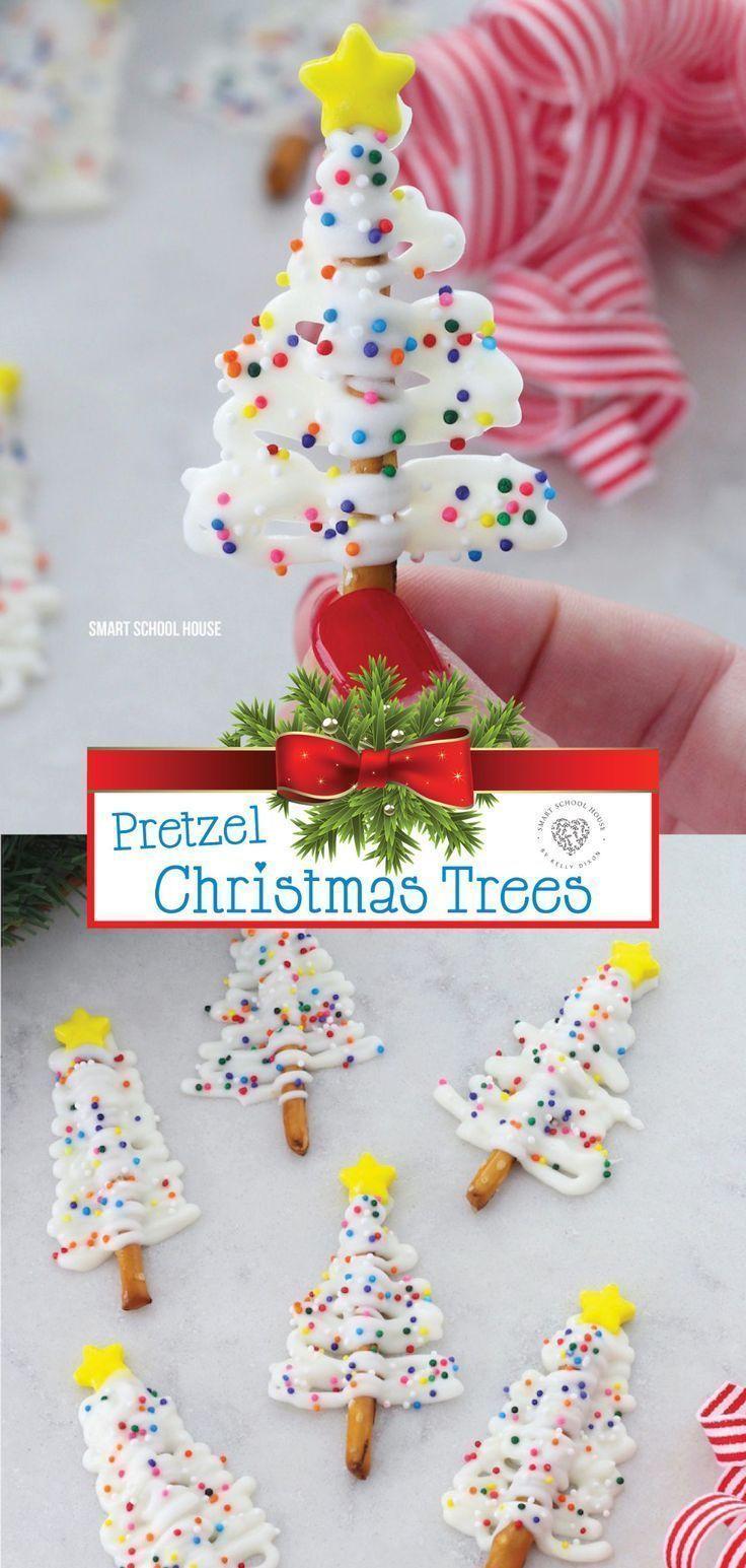 Easy, Delicious Pretzel Christmas Trees