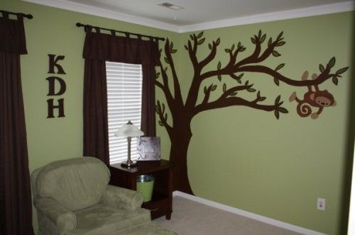 Monkey themed baby room, when I have a boy!