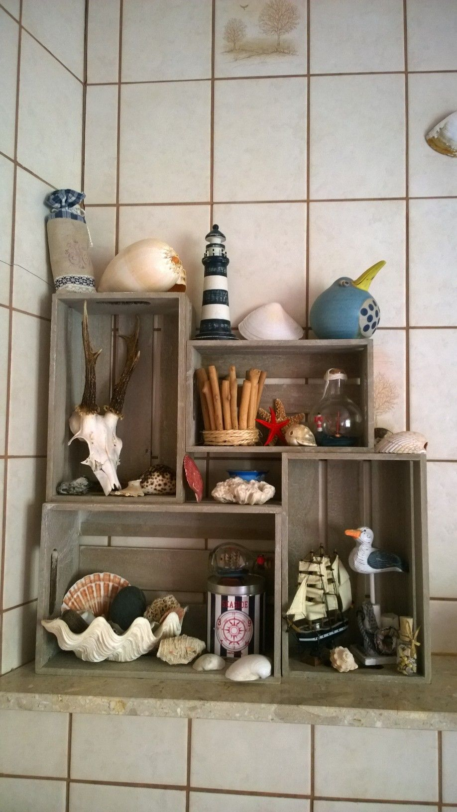 Barthroom, Decoration, Shabby Chic, Collection, Maritim, Meer, Beach, Deko