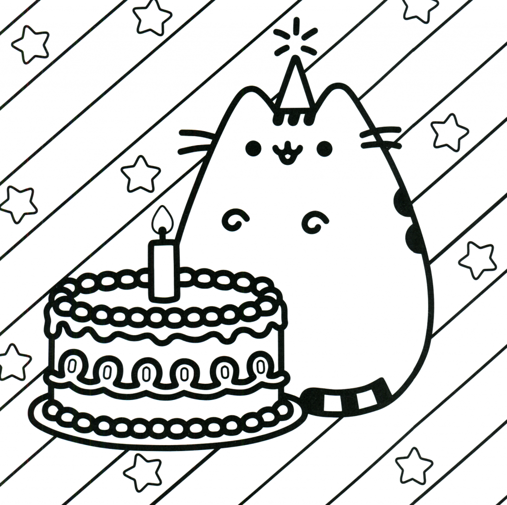 Pusheen Coloring Pages Best Coloring Pages For Kids Birthday Coloring Pages Happy Birthday Coloring Pages Unicorn Coloring Pages