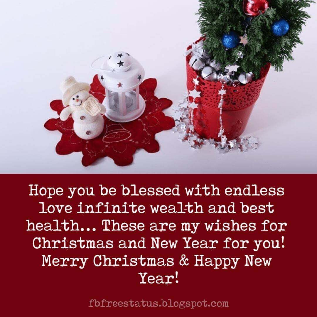 Christmas And New Year Wishes Messages Greeting With Christmas Wishes Images Merry Christmas And Happy New Year New Year Wishes Happy New Year Text