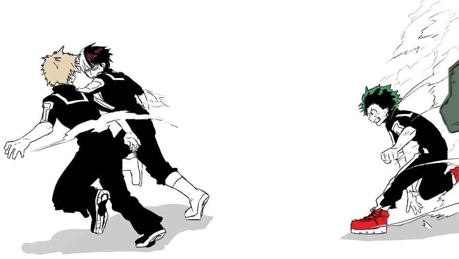 Boku no Hero Academia || Todoroki Shouto, Bakugou Katsuki, Midoriya