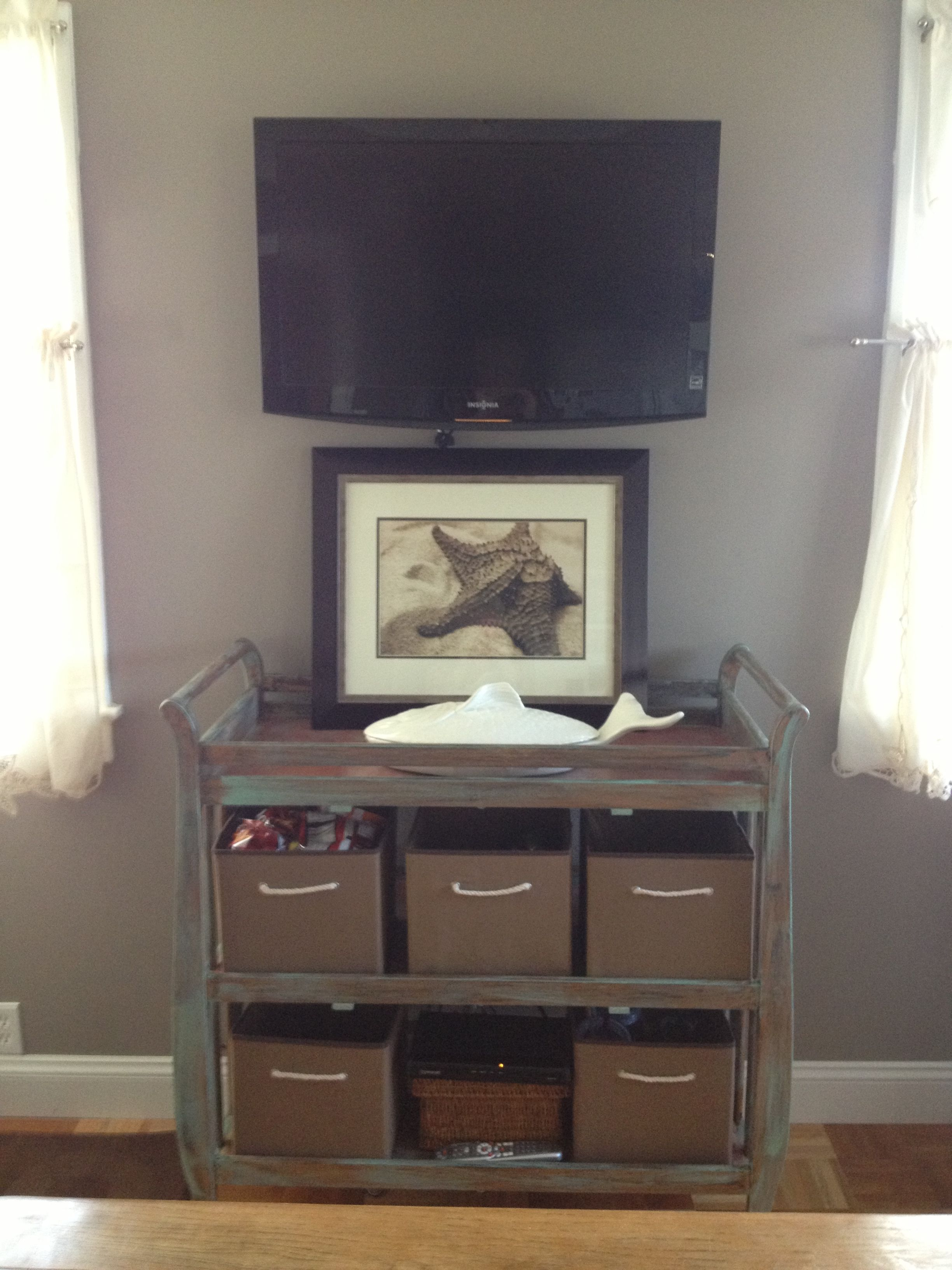 Diaper Changing Table Repurposed As Kitchen Sideboard Diaper