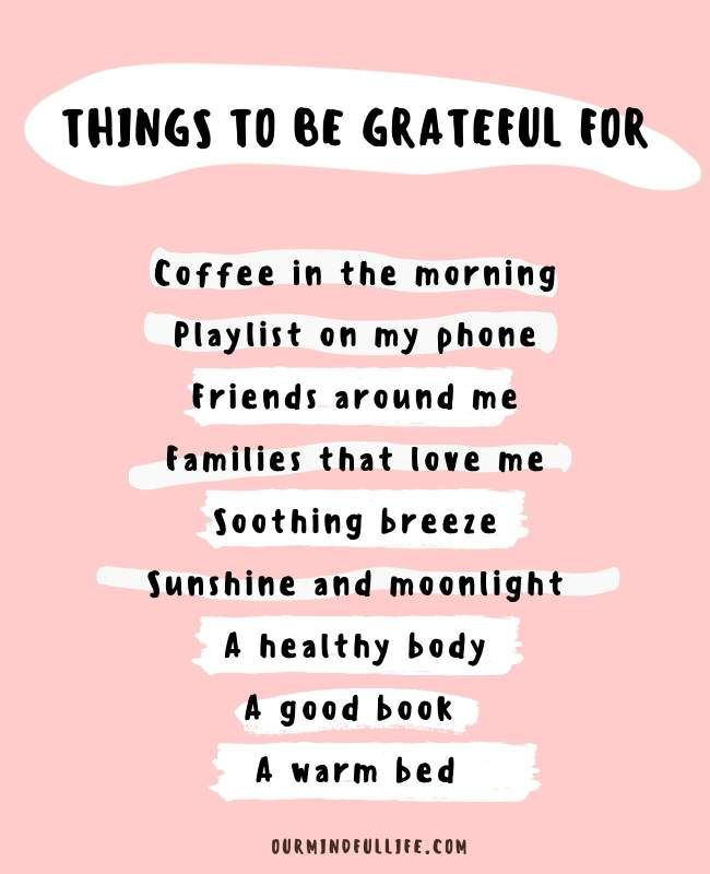 Things to be grateful for - motivational quotes that inspire gratitude and joy  - OurMindfulLife.com