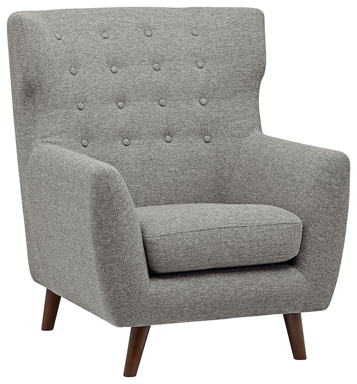 Amazon Com Rivet Hawthorne Mid Century Tufted Modern Accent Chair