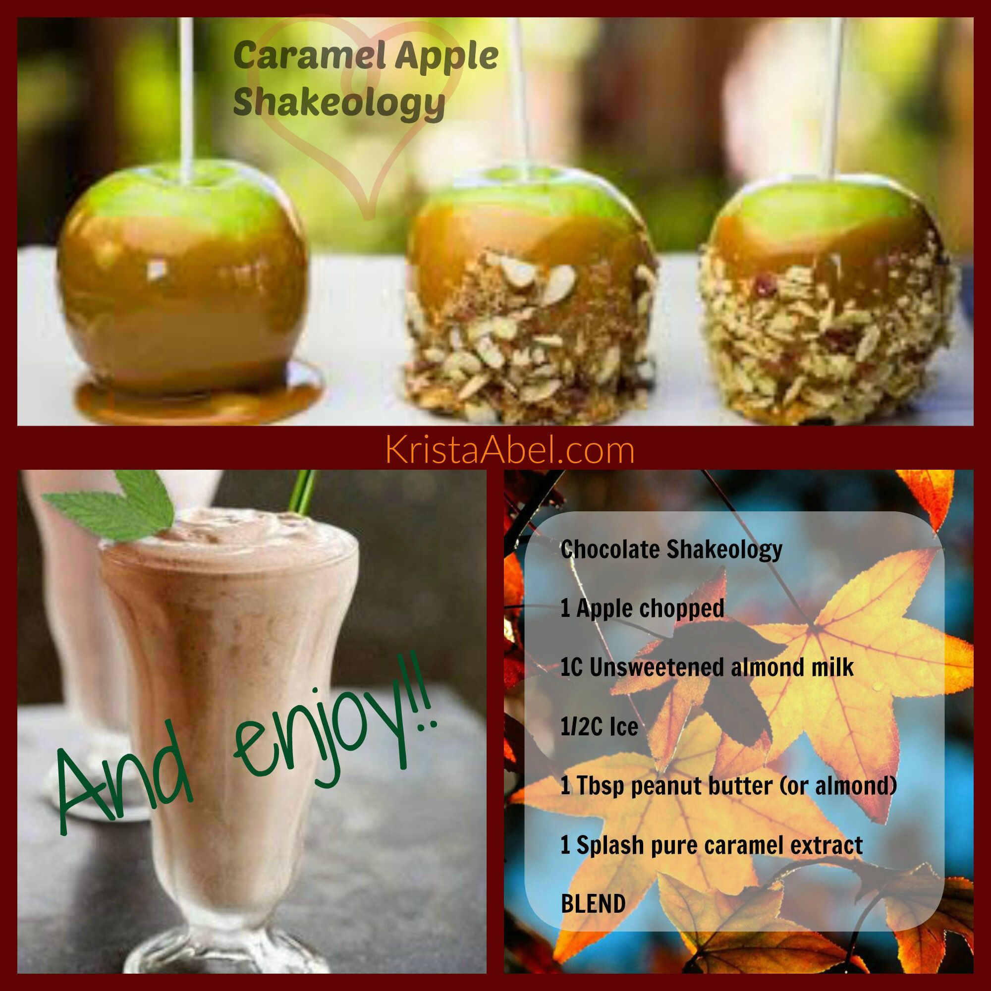 Caramel Apple Shakeology recipe | Caramel apples ...