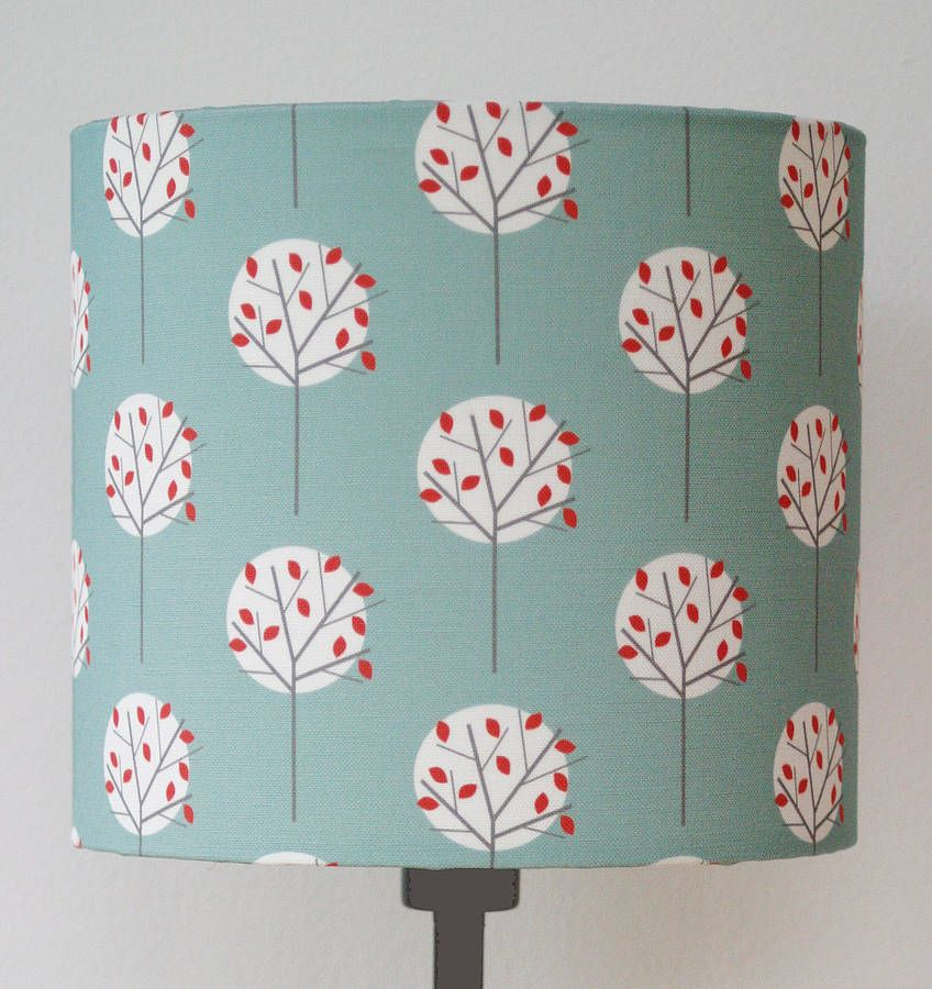 Tree Pattern Print Lampshade