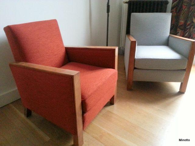 fauteuils ann e 30 39 tissu baumann cr ation arco ann e30 baumann club fauteuil cosy. Black Bedroom Furniture Sets. Home Design Ideas