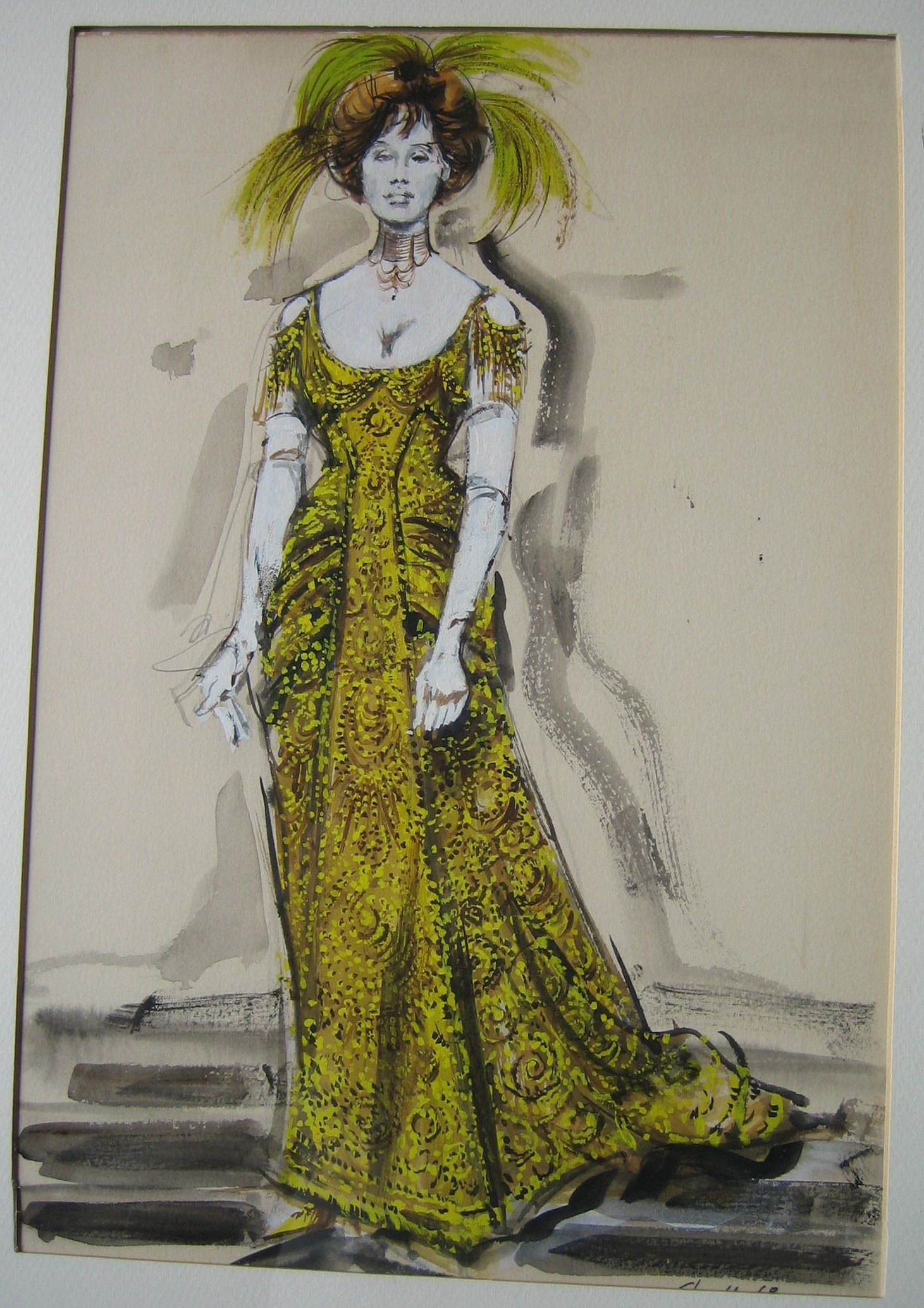 Barbra Streisand (Original Costume Sketch),