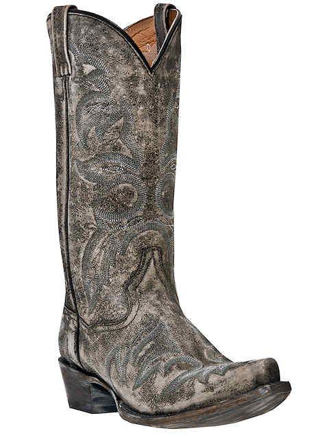 Dan Post Mens Grey Boots Leather Anaheim Softee