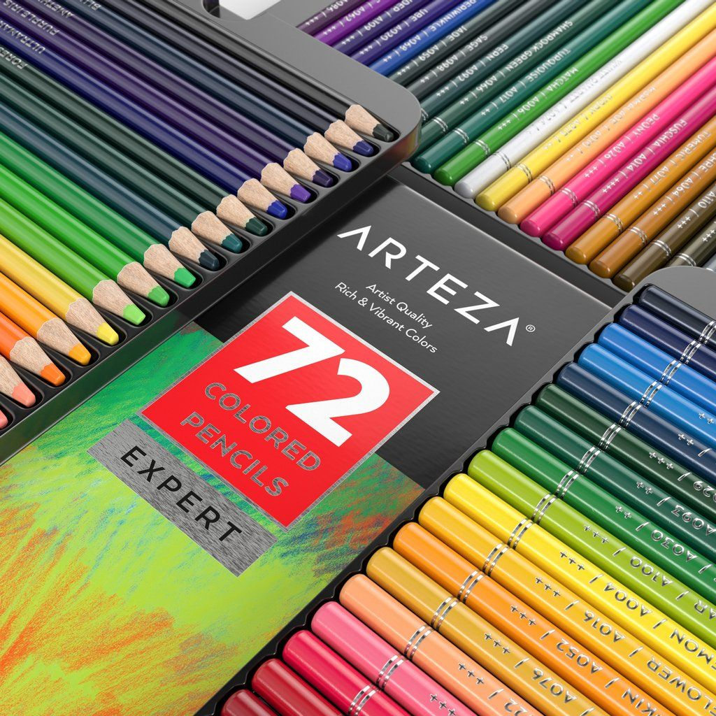 Professional Colored Pencils Set Of 72 Colored Pencils