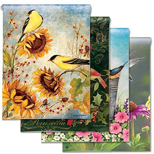 Breezeart Garden Flags Let You Celebrate Every Season Bundle Of 4 Different Flag Designs Plus A Tips Guide By Breeze Art Garden Flags Different Flags Seasons