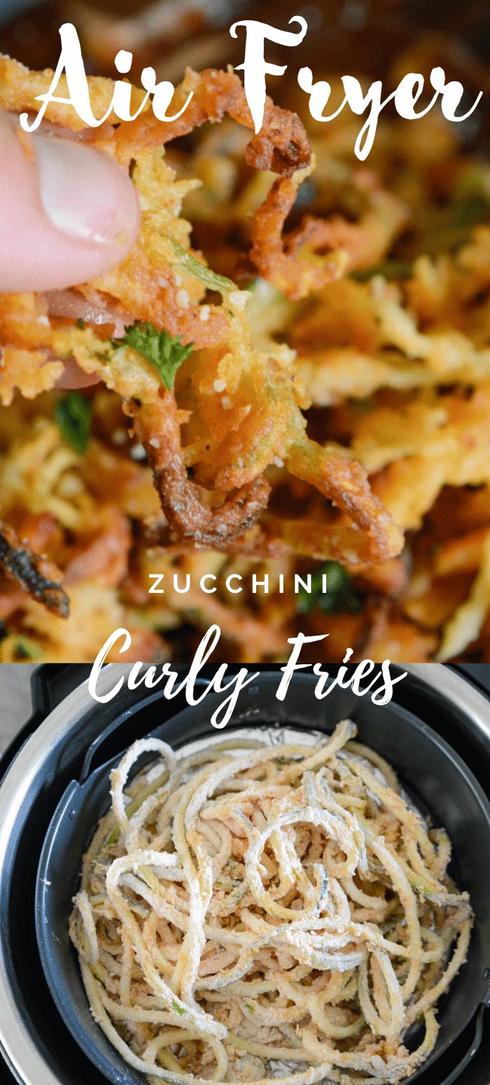 Air Fryer Curly Zucchini Fries Recipe in 2020 Zucchini