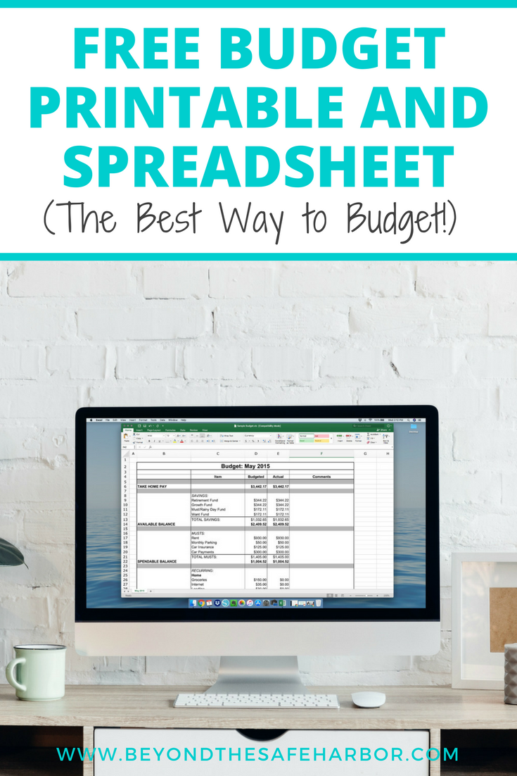 how to budget every month plus a free budget printable 4