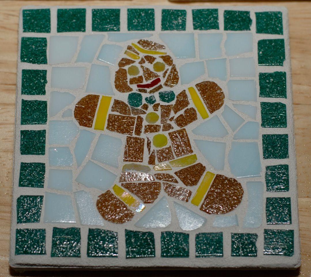 Gingerbread Man Christmas Coaster