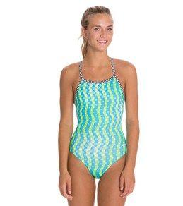 5823d0052 Dolfin Uglies Splashdots Print Womens V-2 Back Swimsuit   Swimmer ...