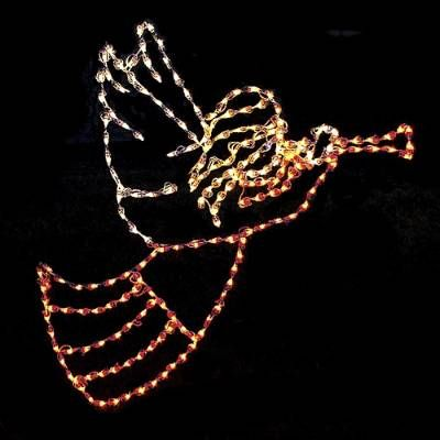 Herald the holidays with our classic Angel with Trumpet Lighted