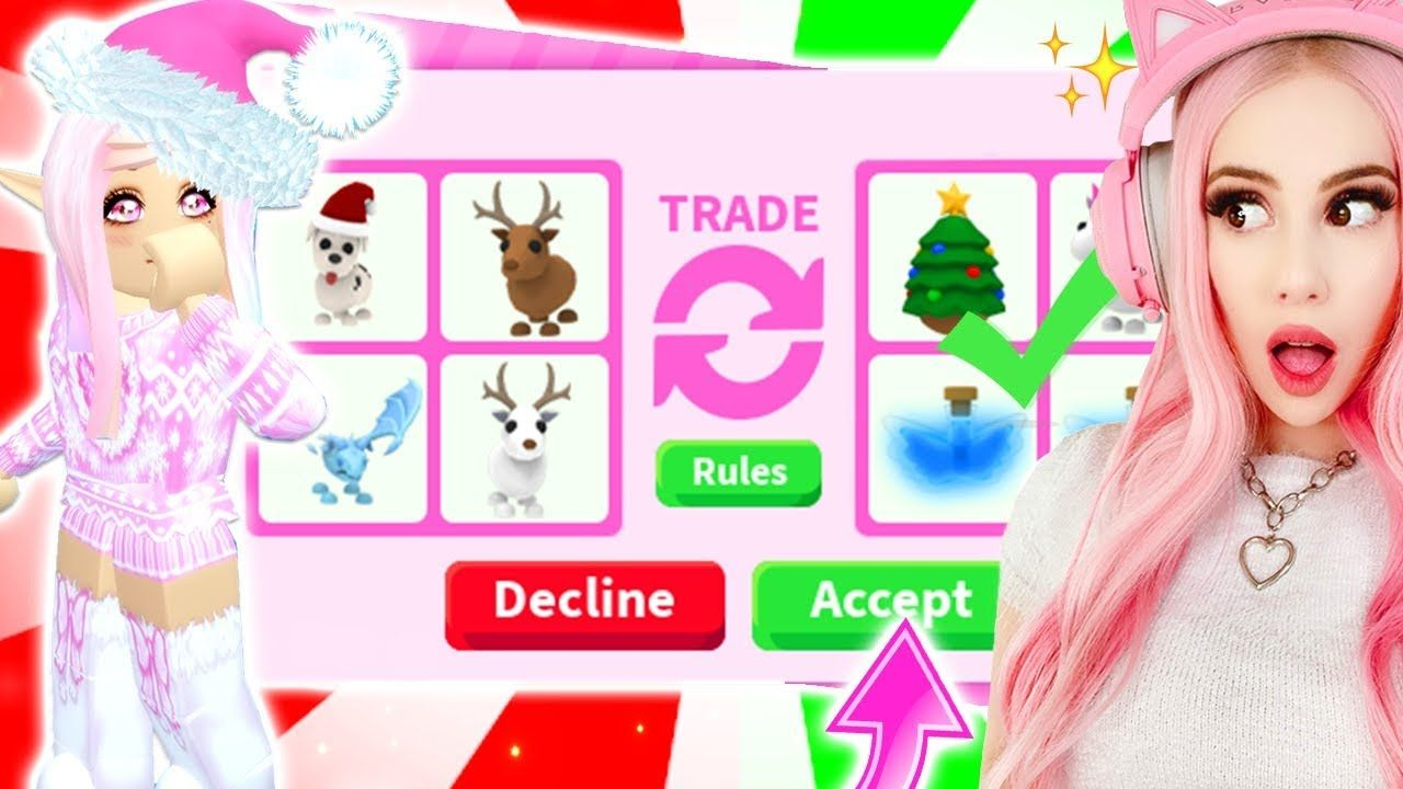 Trading All My New Favorite Pets For Free For Christmas In Adopt Me Roblox Adopt Me Trading Youtube Adoption Roblox Kids Vacation