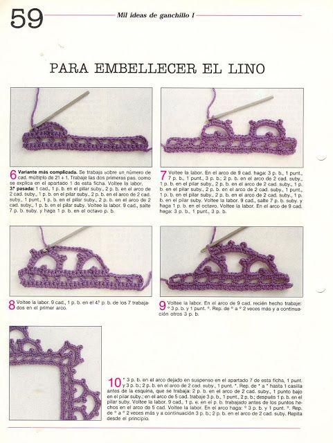 puntillas crochet | Puntos crochet | Pinterest | Ganchillo gráfico ...