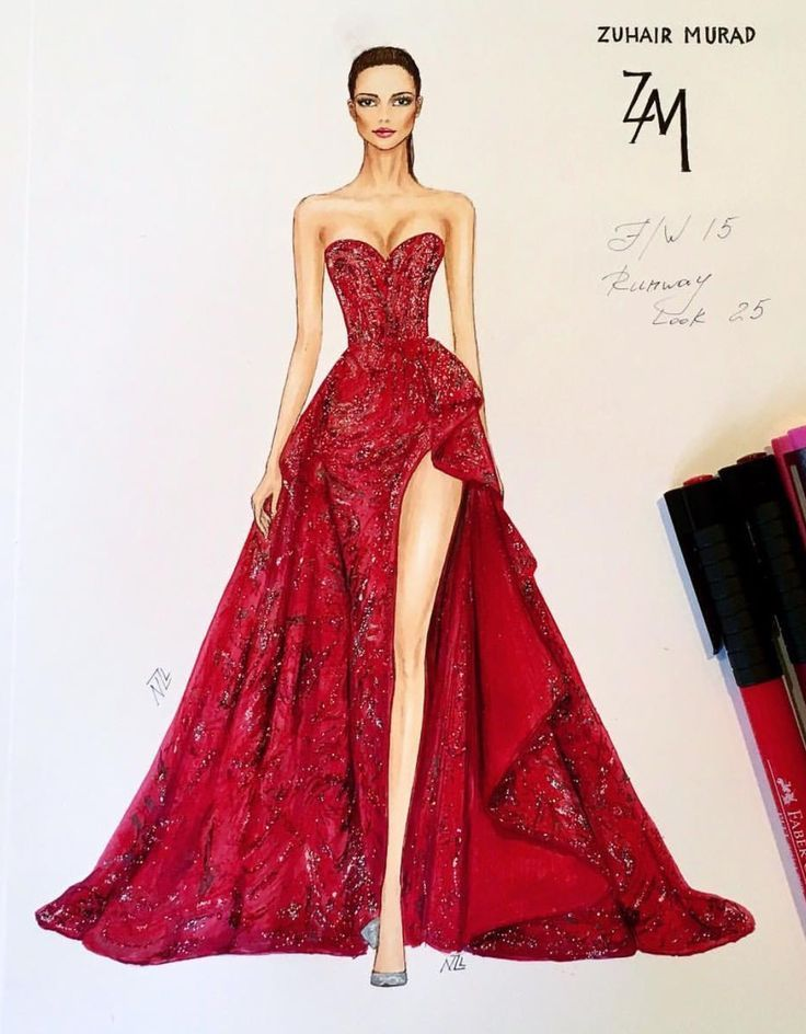 Zuhair Murad- Awesome Prom Dress Sketch- original dress doesn't ...