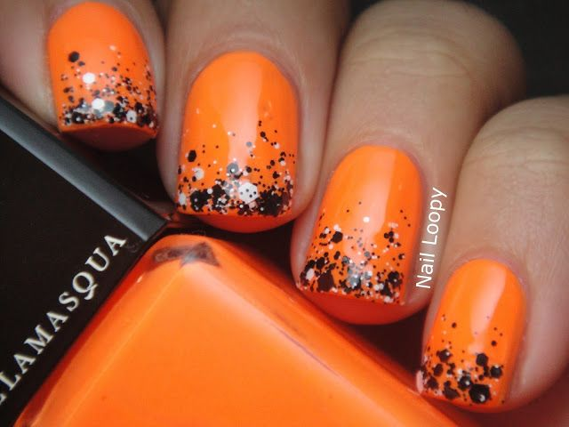 ILLAMASQUA GAMMA CHALK DUST GRADIENT...can do this with my Orange nail  polish - ILLAMASQUA GAMMA CHALK DUST GRADIENT...can Do This With My Orange