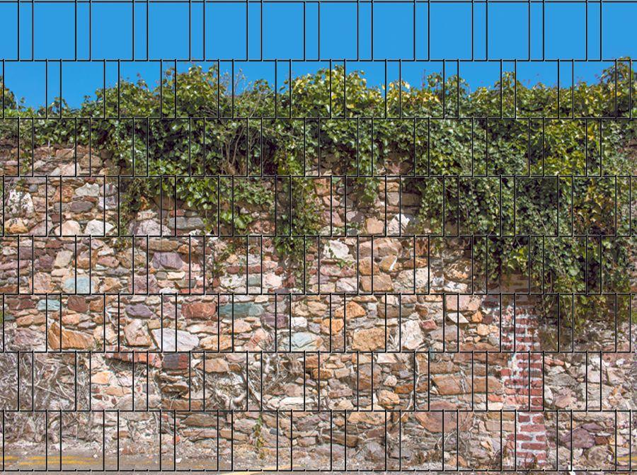 Sichtschutzstreifen Steinmauer Zaun, Sichtschutzzaun