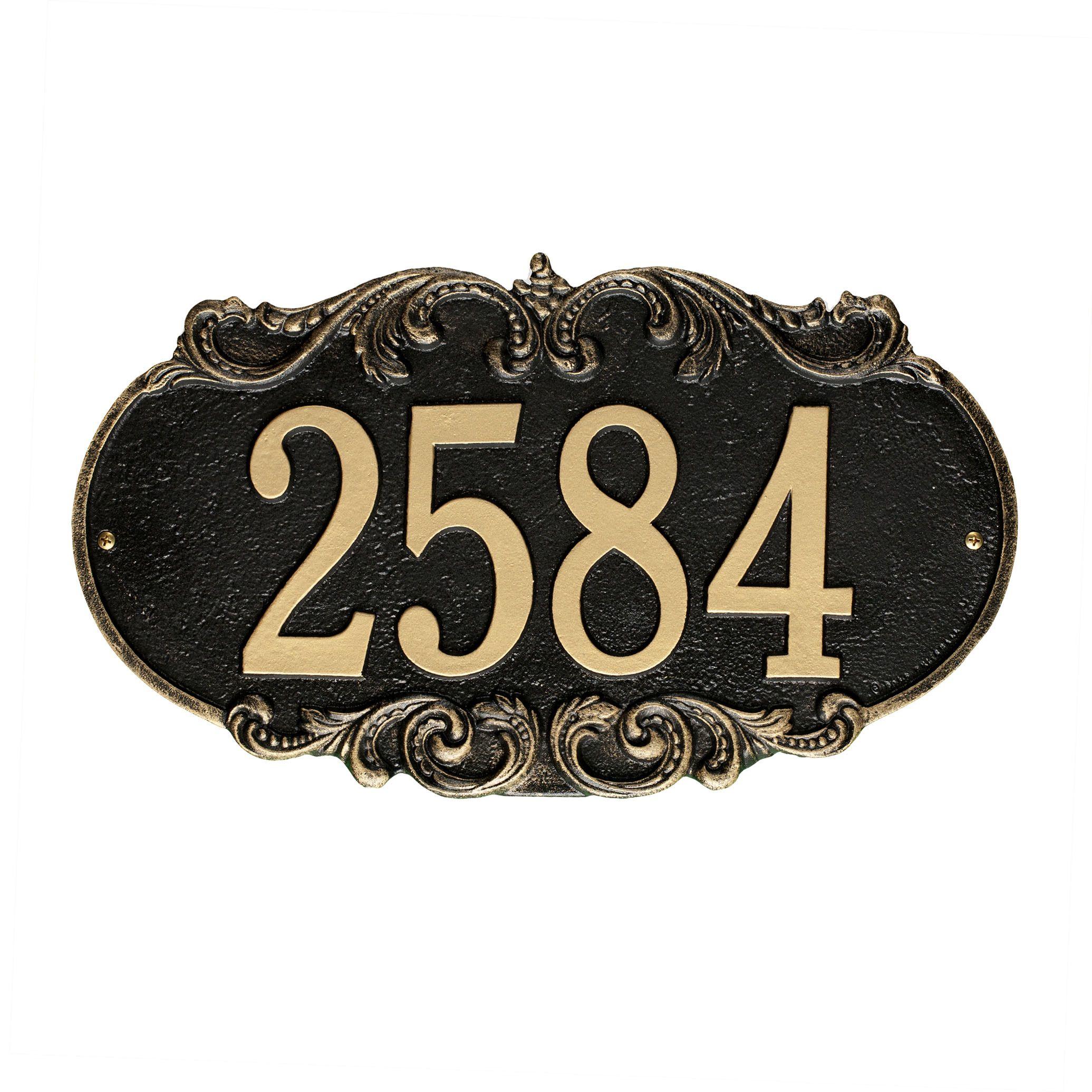 Charrington 1line wall address plaque address plaque