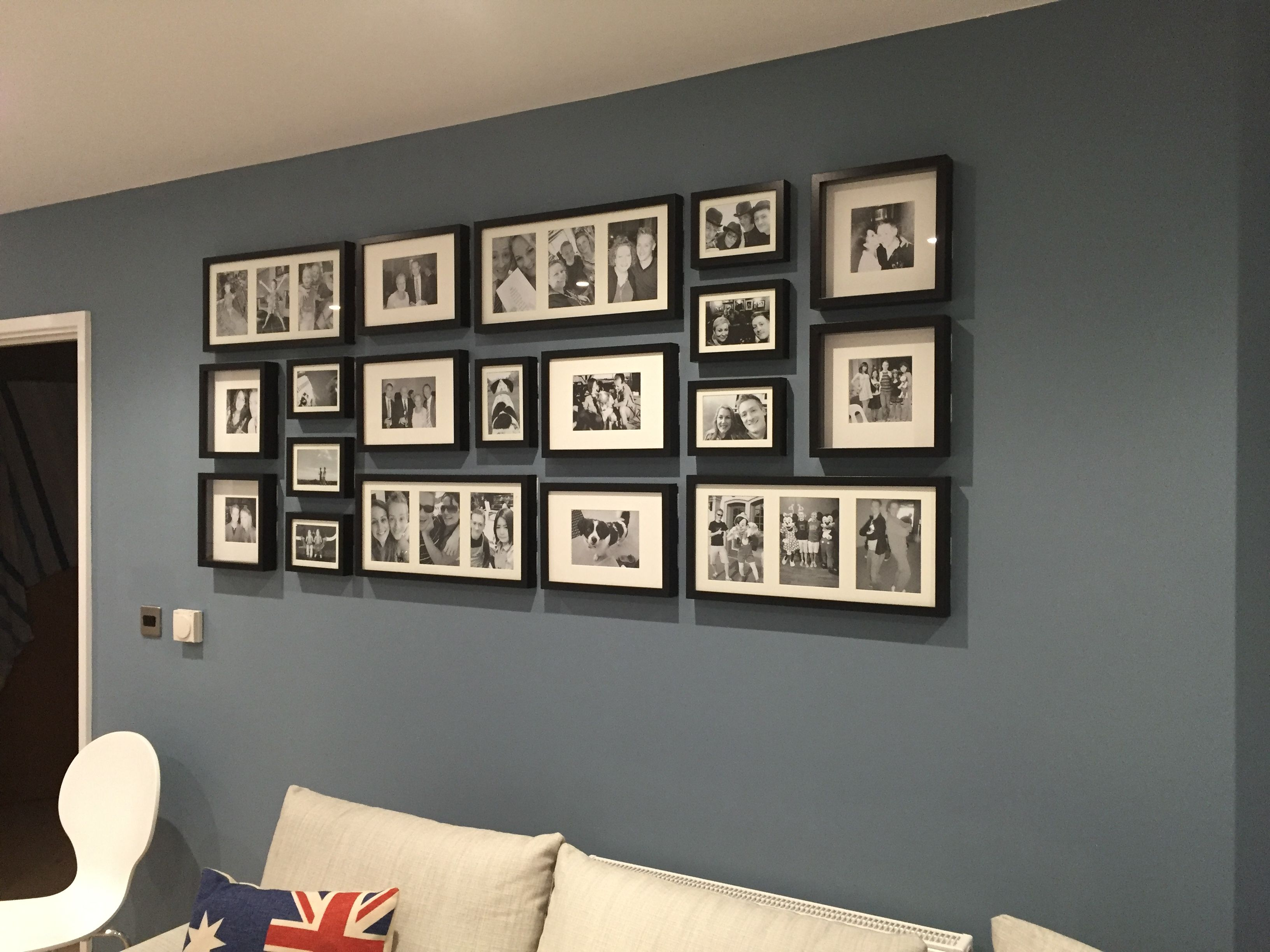 photo wall - ikea ribba frames … | living room in 2018…