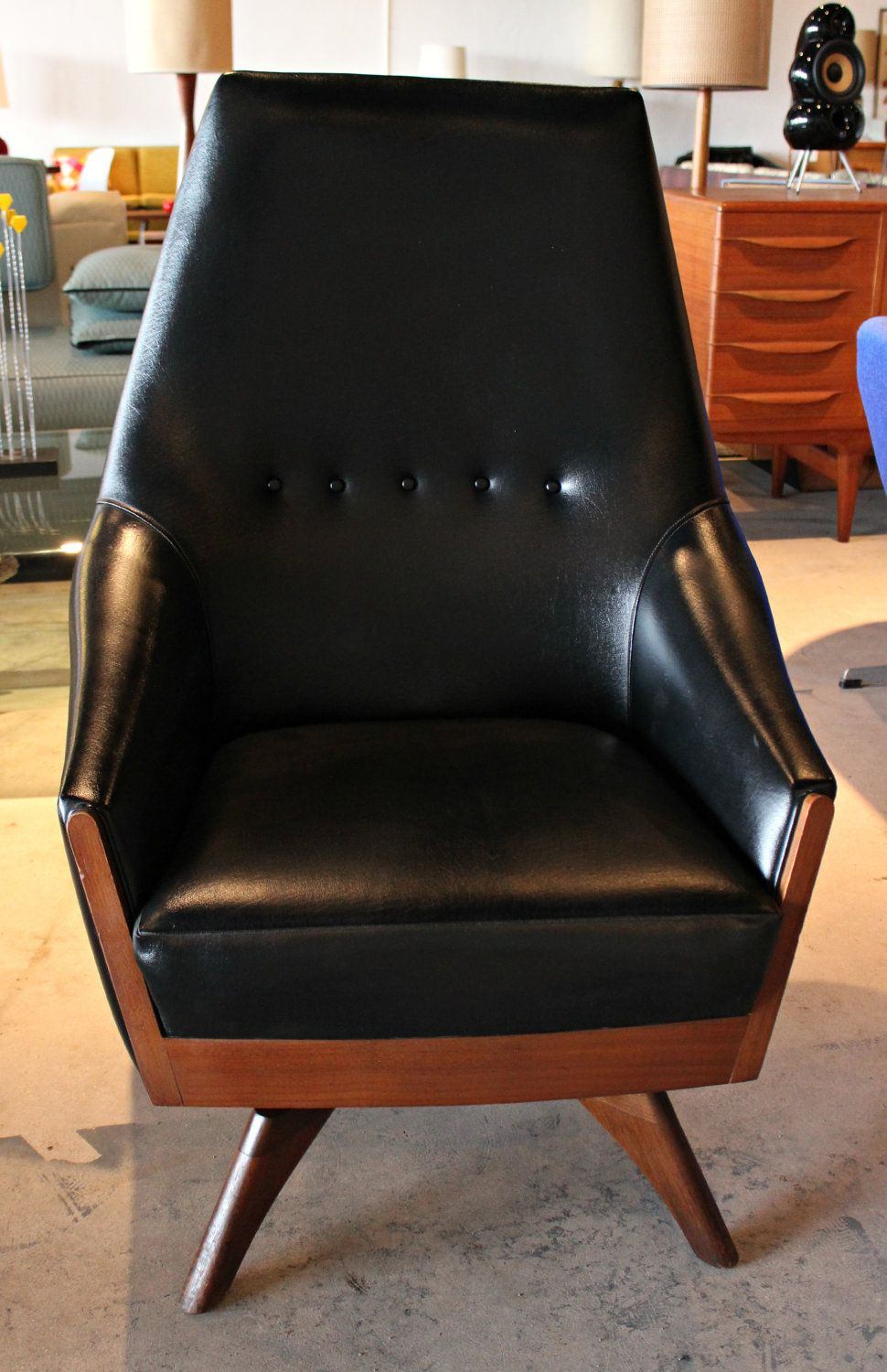 Classic Mid Century 360 Swivel Rocking Chair By Adrian Pearsall. $1,299.99,  Via Etsy.