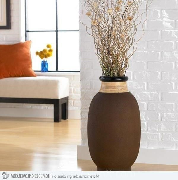 elaborate beauties of floor vase designs large floor vases smallcopperworksfloorvase - Decorative Floor Vases