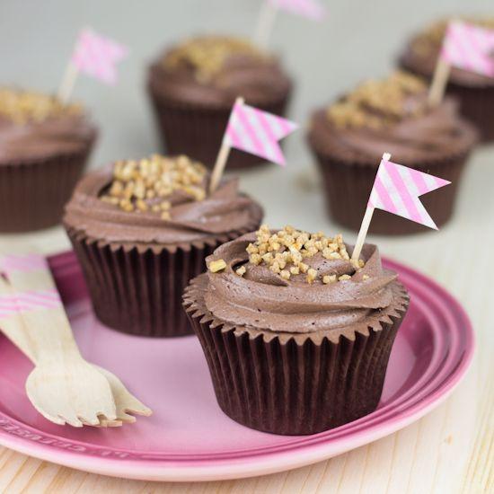 Objetivo: Cupcake Perfecto.: Cupcakes de chocolate (sin huevo y sin lactosa)