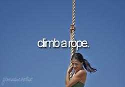 Climb a rope